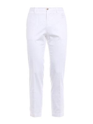 Dolce & Gabbana: casual trousers - DG embroidery twill chino trousers