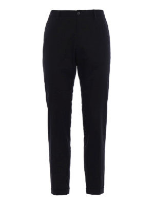 Dolce & Gabbana: casual trousers - DG embroidery twill chinos