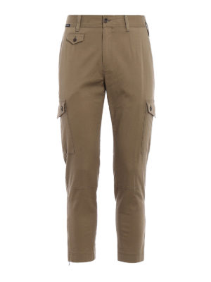Dolce & Gabbana: casual trousers - Khaki cotton cargo pants