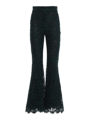 Dolce & Gabbana: casual trousers - Lace trousers