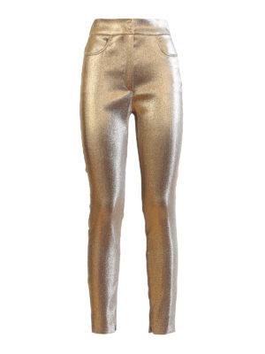 809585a9e1ed DOLCE   GABBANA  pantaloni casual - Pantaloni lamé aderenti a vita alta