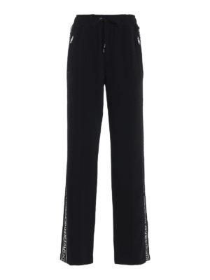 DOLCE & GABBANA: pantaloni casual - Pantaloni in cady con bande logo