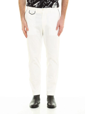 Dolce & Gabbana: casual trousers online - Contrasting profile cotton trousers