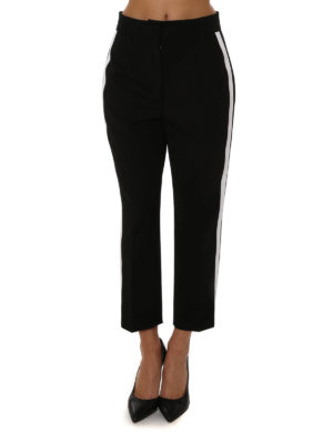 Dolce & Gabbana: casual trousers online - Cropped wool trousers