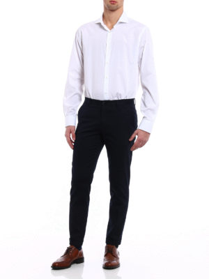Dolce & Gabbana: casual trousers online - DG embroidery cotton twill chinos