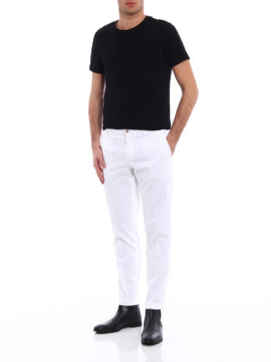 Dolce & Gabbana: casual trousers online - DG embroidery twill chino trousers