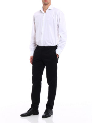 Dolce & Gabbana: casual trousers online - DG embroidery twill chinos