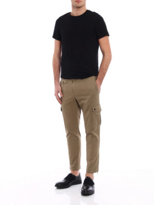 Dolce & Gabbana: casual trousers online - Khaki cotton cargo pants
