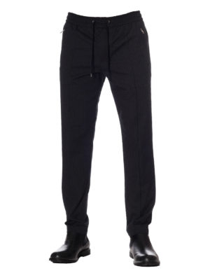 Dolce & Gabbana: casual trousers online - Pinstriped cotton jogging trousers