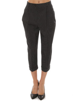 Dolce & Gabbana: casual trousers online - Polka dot cropped wool trousers