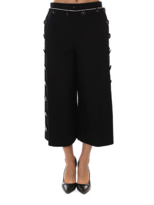 Dolce & Gabbana: casual trousers online - Sailor style wide leg crop trousers