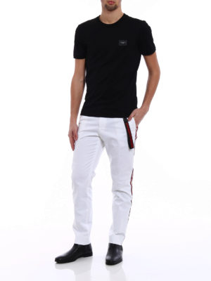 Dolce & Gabbana: casual trousers online - Side bands crop chino trousers