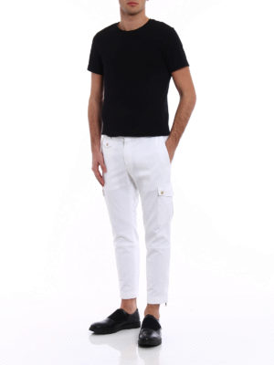 Dolce & Gabbana: casual trousers online - White cotton cargo pants