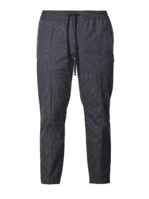 DOLCE & GABBANA: pantaloni casual - Pantaloni in cotone gessato