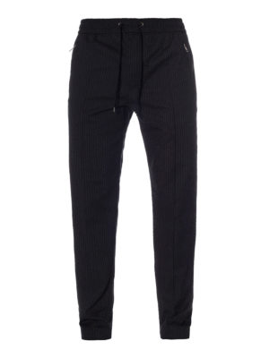 Dolce & Gabbana: casual trousers - Pinstriped cotton jogging trousers