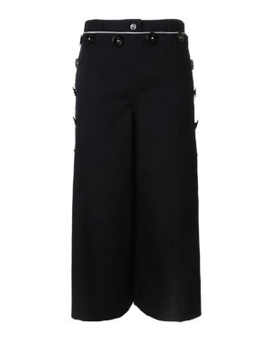 Dolce & Gabbana: casual trousers - Sailor style wide leg crop trousers