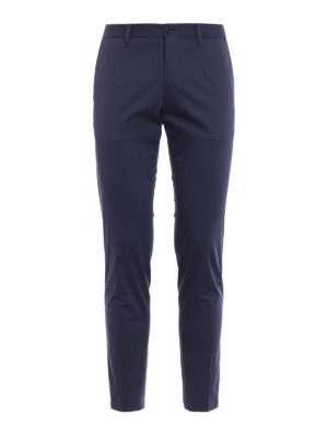 Dolce & Gabbana: casual trousers - Stretch cotton chino with bands