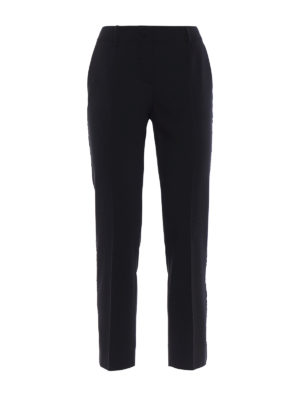 Dolce & Gabbana: casual trousers - Stretch wool trousers with band