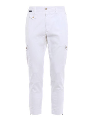 Dolce & Gabbana: casual trousers - White cotton cargo pants