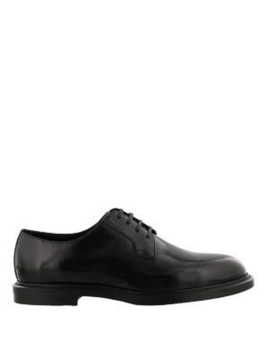 Dolce & Gabbana: classic shoes - Black brushed leather Derby shoes