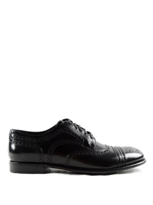 Dolce & Gabbana: classic shoes - Brushed leather classic Derby shoes