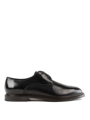 DOLCE & GABBANA: classiche - Eleganti derby in pelle spazzolata