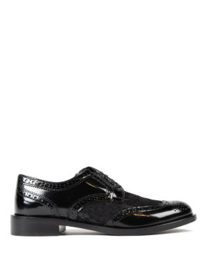 Dolce & Gabbana: classic shoes - Lace panelled leather Derby shoes