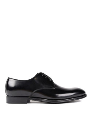 Dolce & Gabbana: classic shoes - Leather tapered toe Derby shoes