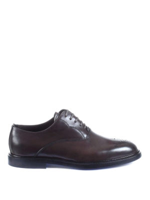 Dolce & Gabbana: classic shoes - Marsala brown leather Oxford shoes