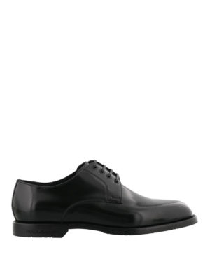 Dolce & Gabbana: classic shoes - Marsala Derby leather shoes