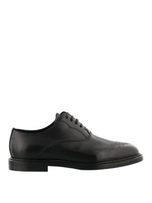 Dolce & Gabbana: classic shoes - Marsala leather Oxford shoes