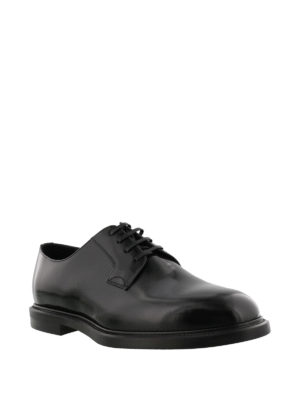 Dolce & Gabbana: classic shoes online - Black brushed leather Derby shoes