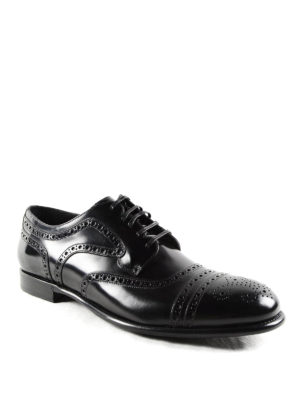 Dolce & Gabbana: classic shoes online - Brushed leather classic Derby shoes