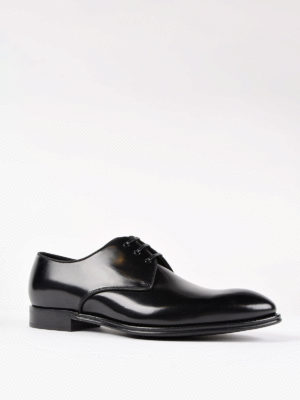 Dolce & Gabbana: classic shoes online - Leather tapered toe Derby shoes