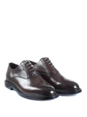 Dolce & Gabbana: classic shoes online - Marsala brown leather Oxford shoes