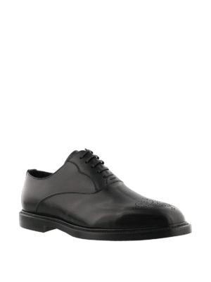 Dolce & Gabbana: classic shoes online - Marsala leather Oxford shoes