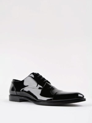 Dolce & Gabbana: classic shoes online - Patent tapered toe Derby shoes