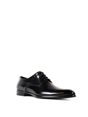 Dolce & Gabbana: classic shoes online - Polished black leather Derby shoes