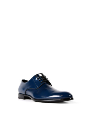 Dolce & Gabbana: classic shoes online - Polished blue leather Derby shoes
