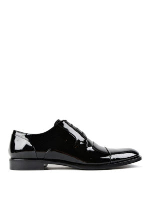 Dolce & Gabbana: classic shoes - Patent tapered toe Derby shoes