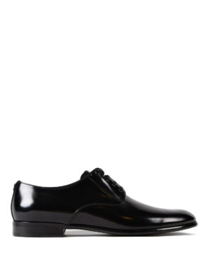 Dolce & Gabbana: classic shoes - Polished black leather Derby shoes