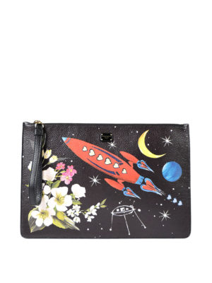 Dolce & Gabbana: clutches - Coloured print leather clutch