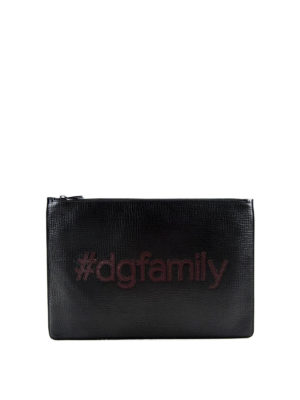 Dolce & Gabbana: clutches - DG Family leather clutch