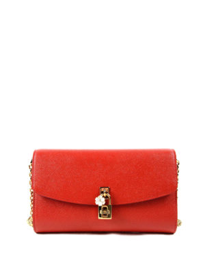 Dolce & Gabbana: clutches - Dolce Dauphine leather clutch