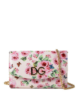 Dolce & Gabbana: clutches - Floral print Dauphine wallet bag