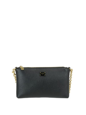 Dolce & Gabbana: clutches - Hammered leather clutch