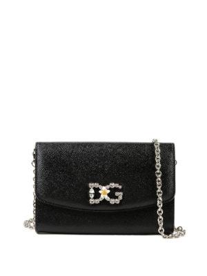 DOLCE & GABBANA: pochette - Clutch portafoglio logo gioiello