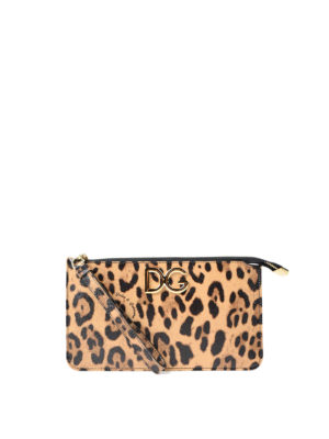Dolce & Gabbana: clutches - Leo printed leather clutch