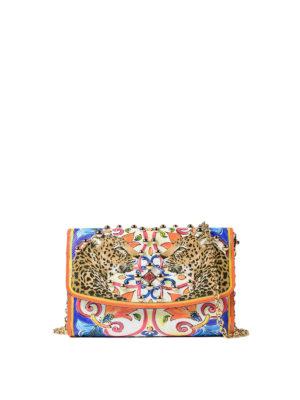 Dolce & Gabbana: clutches - Maiolica print Dauphine wallet bag