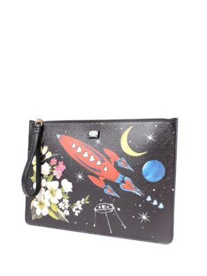 Dolce & Gabbana: clutches online - Coloured print leather clutch